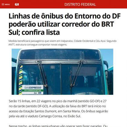 Saiu na Mídia – Presidente da AMAB, Hildo do Candango consegue que ônibus do Entorno Sul utilizem corredor do BRT