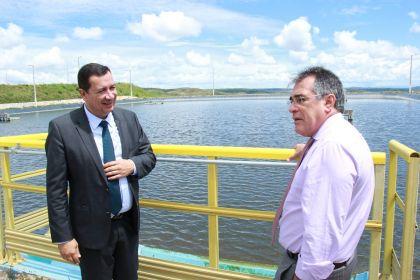 Hildo do Candango e presidente do TCM-GO realizam visita técnica à ETE