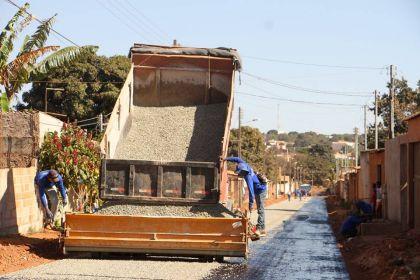 Obras de infraestrutura urbana continuam a marcar gestão Hildo do Candango em Águas Lindas de Goiás