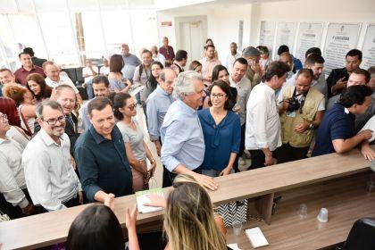 Prefeito Hildo do Candango e Governador Ronaldo Caiado acompanharam os trabalhos da Caravana do Empreendedor em Águas Lindas