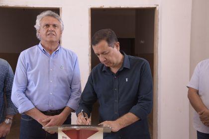 Prefeito Hildo e Governador Caiado realizam visita técnica ao presídio de Águas Lindas