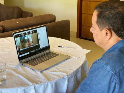 Notícia de Águas Lindas e Entorno – Prefeitos da Região Metropolitana do Entorno realizam videoconferência com governador Ronaldo Caiado