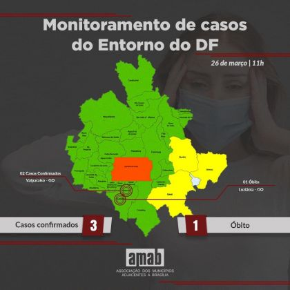 Notícia do Entorno – Presidente da AMAB, Hildo do Candango faz monitoramento dos casos de coronavírus no Entorno do DF